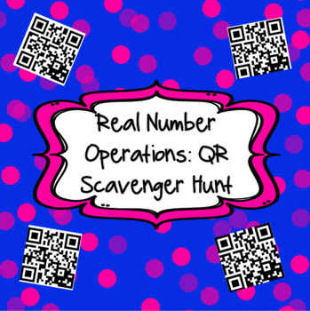 Operations with Real Numbers Scavenger Hunt