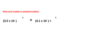 Operations with Scientific Notation