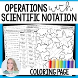 Operations with Scientific Notation Christmas Coloring Worksheet