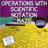 Operations with Scientific Notation Maze