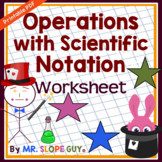Scientific Notation Operations Worksheet
