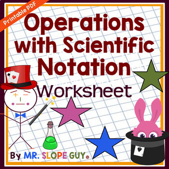 Operations with Scientific Notation PDF Worksheet Common C