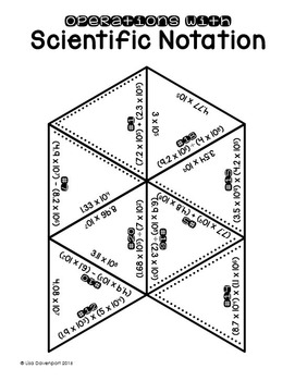 Operations with Scientific Notation (PUZZLE)