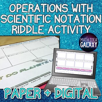 Operations with Scientific Notation Activity (Riddle)
