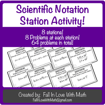 Operations with Scientific Notation Station Activity!