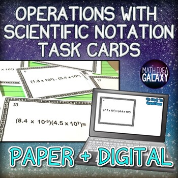 Operations With Scientific Notation Teaching Resources