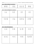 Operations with Signed Fractions and Mixed Numbers
