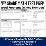 Word Problems  - 4th Grade Test Prep (No Prep)