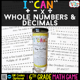 6th Grade Operations with Whole Numbers & Decimals 6th Gra