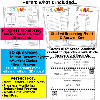 6th Grade Operations with Whole Numbers and Decimals | 6th Grade Math Review