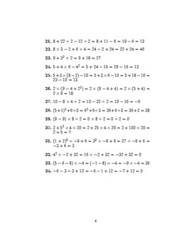 Operations with integers bundle