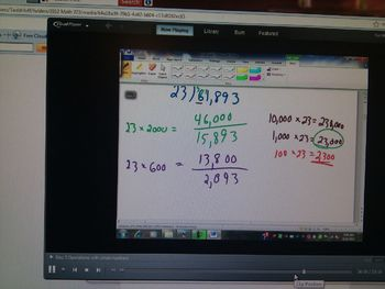 Operations with whole numbers; combining back to basics with...