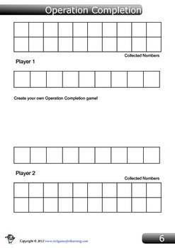 Operators Game - Operation Completion
