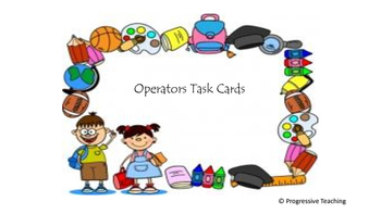 Operations Task Cards