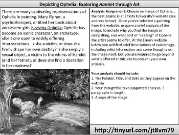Ophelia Artistic Representations Analysis