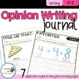 Opinion Writing Journal