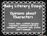 Opinion About Characters Lesson - Writing Literary Essays