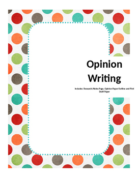 Opinion/Argument Writing