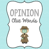 Opinion Clue Words anchor chart and sorting activity