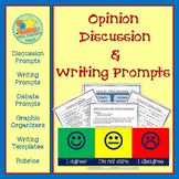 Opinion Writing Graphic Organizer, Writing Prompts and Rubric
