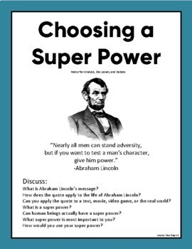 Choosing A Super Power: Opinion/Persuasive Essay