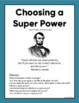 Choosing A Super Power: Opinion/Persuasive Essay
