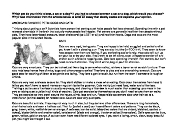 opinion essay cats or dogs by practical ly perfect tpt opinion essay cats or dogs