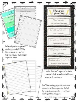 Opinion Essay Flipbook, Organizers, Lessons, and More!