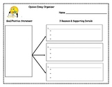 Opinion Essay Graphic Organizer