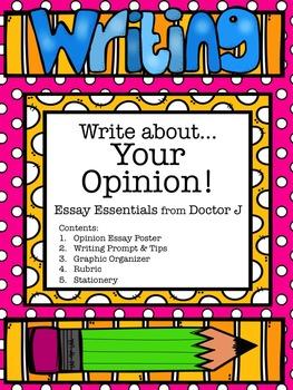 Opinion Essay Graphic Organizer & Rubric Common Core Aligned