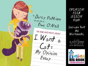 Opinion Essay Lesson Plan: I WANT A CAT