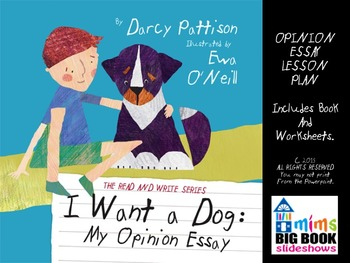 Opinion Essay Lesson Plan: I WANT A DOG