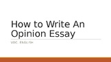 Opinion Essay Power Point