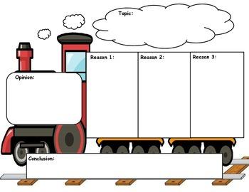 Opinion Graphic Organizer - Train