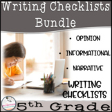 Opinion, Informative, and Narrative Checklists ~5th Grade