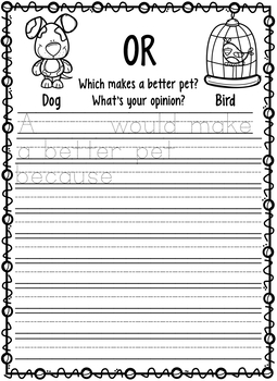 Opinion Journal Writing -PETS