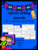 Opinion Journal Writing for Kindergarten and First