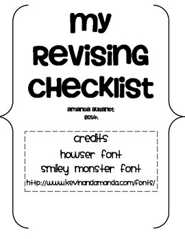 Opinion Letter Revision Checklist