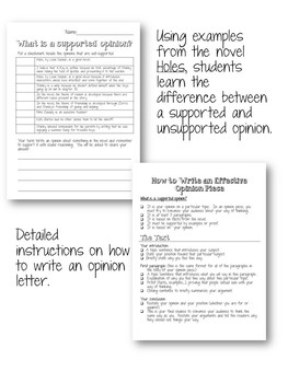 Opinion letter with the novel holes by teaching made easy123 tpt opinion letter with the novel holes altavistaventures Choice Image