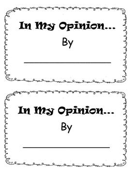 Opinion Mini Book