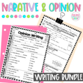 Opinion & Narrative Writing Transitions Sentence Starters BUNDLE, Thanksgiving