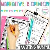 Opinion & Narrative Writing Transitions Sentence Starters BUNDLE, Christmas