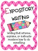 Opinion, Narrative, and Expository Writing Unit