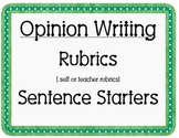 Opinion Paper Writing Rubrics for First Grade