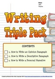How to Write Bundle (Opinion, Descriptive, Personal Narrative)