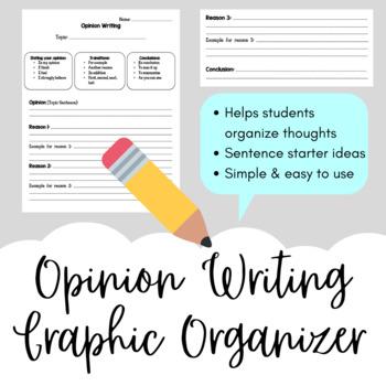 Opinion Paragraph Graphic Organizer