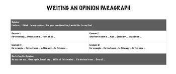 Opinion Paragraph Poster