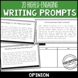 Opinion Paragraph Writing Prompts for Grades 3, 4, 5 with Brainstorming