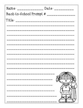 Opinion Paragraph Writing Prompts- Back-to-School Themed