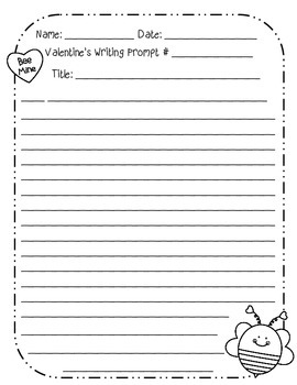 Opinion Paragraph Writing Prompts- Valentine's Day Themed